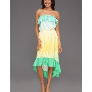 Lilly Pulitzer strapless swim cover-up dress